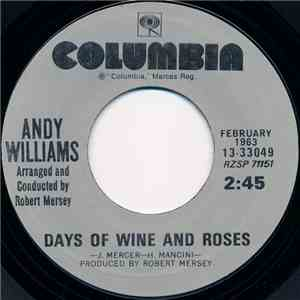 Andy Williams - Days Of Wine And Roses / Moon River album
