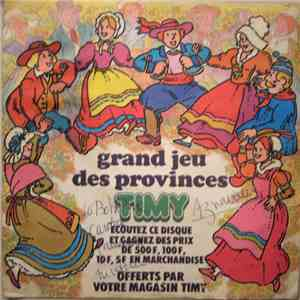 No Artist - Grand jeu des provinces album